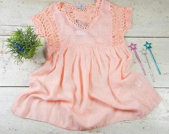 Girls Kaftan - Girl Beach Outfit - Summer Toddler Dress, Toddler Beach Dress, Baby Girl Caftan, Beach Cover Up, Unique Beach Kids Kaftan