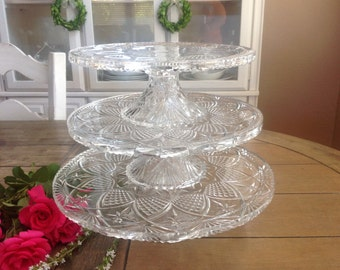Perfect Vintage Three Tiered Cake Plate Must Have For Your Vintage Wedding