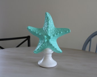 Starfish home decor / mint