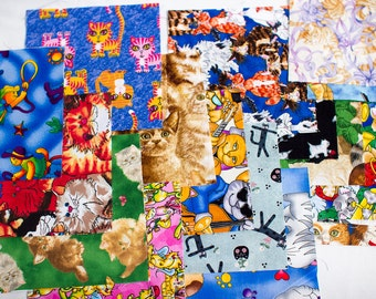 """20  6""""  quilting  squares kitty cat theme on them.all different"""