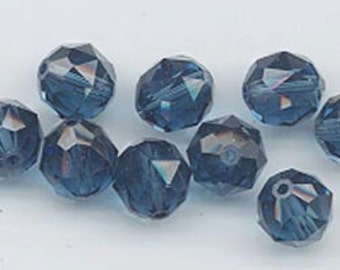 Twelve Swarovski crystals - art 5025 - 8 mm - montana blue
