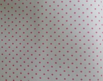 BTHY Riley Blake Swiss Dots Pink on White//Fabric Yardage//Quilting Fabric
