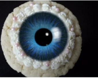 Halloween, Eyeball, Eyes, cupcake or cookie toppers