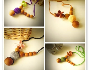 Set of 3 in the price of 2-Nursing Necklaces by SimplyaCircle-Breastfeeding-Eco-Friendly-Choose your color-Mother's day