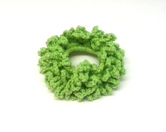 Cotton Crochet Hair Scrunchie, Crochet Hair Accessories, Crochet Hairband, Crochet Hair Tie. FREE UK Delivery
