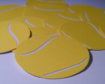 Special today! Buy two sets get one free !Tennis balls  ~ die cut ~ embellishments  ~ decorations ~ locker  ~  scrapbooking ~