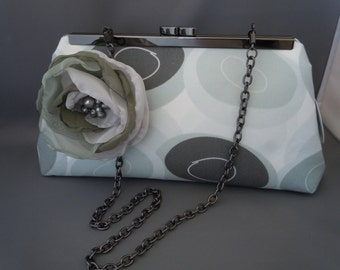 Grey Mother of the Bride Clutch, Grey Bridesmaids Clutch, Grey Wedding Clutch, Grey Beach Stones Wedding Clutch