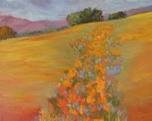 Poppies Fields on Gallery Wrap Canvas