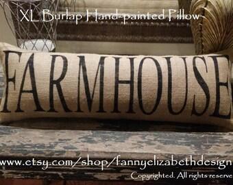 Giant Farmhouse Pillow-FREE SHIPPING-XL Burlap Porch Swing Pillow-Farmhouse Pillows-Pillows-Farmhouse-Burlap Pillow- Farmhouse Decor-Gifts