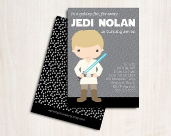 Luke Birthday Invitation - Sky Walker Party Invite - New Star Wars Party Supplies