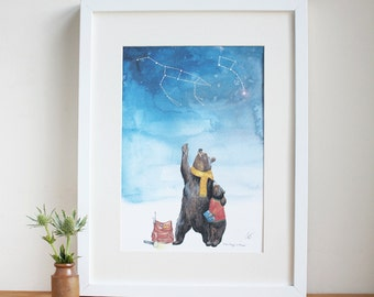 Ursa Major + Ursa Minor Print