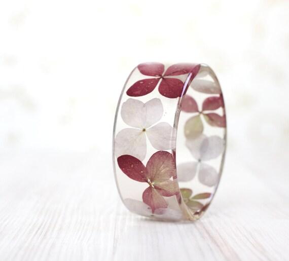 Lavender bracelet - Epoxy resin bracelet - Real flower Bracelet