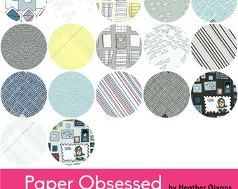 Paper Obsessed - Half Yard Bundle - Heather Givans for Windham Fabrics - HGPOHY - 17 Prints