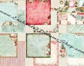 Blue Fern Studios Vintage Christmas Paper Collection