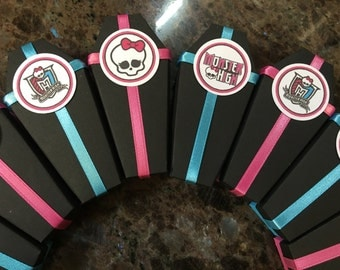 Monster High Inspired Party Favor Boxes