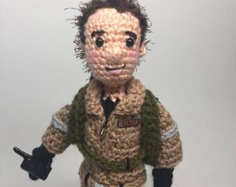 Bill Murray as Venkman Ghostbusters Inspired Amigurumi Crochet doll Pattern