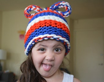 Red White and Blue Hat / Crazy Hat Day / Patriotic USA American Flag Accessory