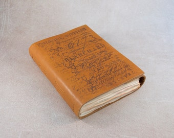Brown sketchbook genuine leather notebook textured cover