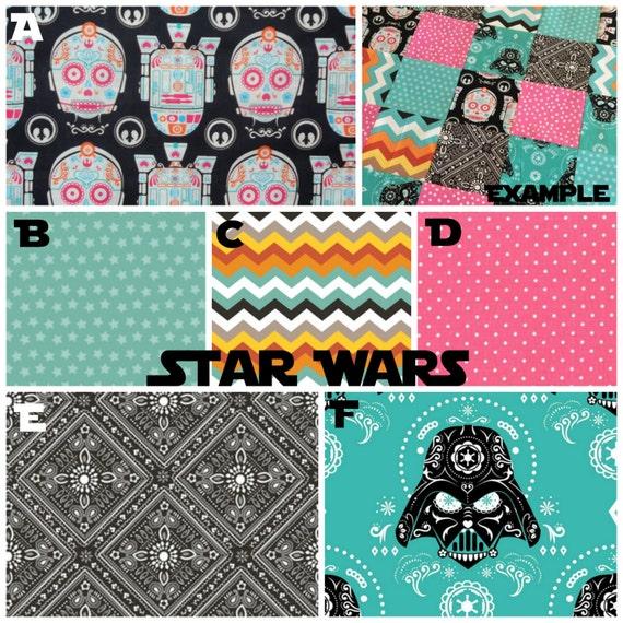 Star Wars Sugar Skulls Crib Bedding by lolaslovies