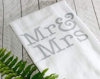 Mr. & Mrs. Flour Sack Towel