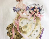 "Finished / Completed Cross Stitch Mirabilia's ""Spring Queen"" by Permin crossstitch counted cross stitch"