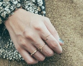 ON SALE Gold stacking rings - delicate stack ring - 3 pieces ring set