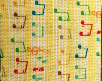 Music Gift under 10 - Yellow Music Tag