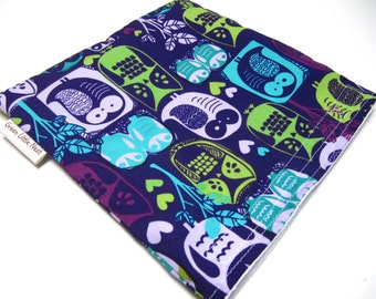 Reusable Sandwich Bag, Snack Bag, Owl Snack Bag, Back To School Lunch Bag, Eco Friendly Lunch Option, Owl Sandwich Bag