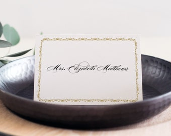 Gold Frame Place Card, Table Place Card, Guest Name Seating Card