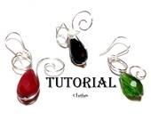 Wire Wrap Cat Earrings Tutorial Jewelry Tutorial Earrings Tutorial Jewelry Pattern PDF File Jewelry Pattern Wire Pattern