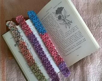 Set of Three Crochet Bookmarks