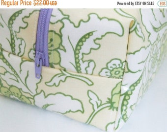HALLOWEEN SPECIAL SALE Waterproof Makeup Bag - Floral Cosmetic Bag - Heather Bailey Fabric