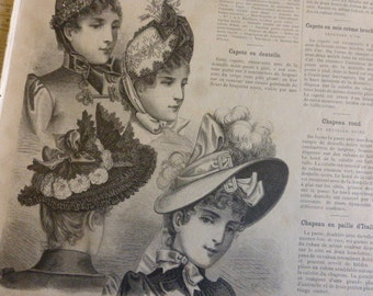 4 X 1889, Victorian Fashion Magazines French La Mode Illustree,