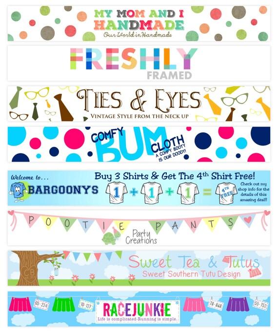 how to make a esty shop banner