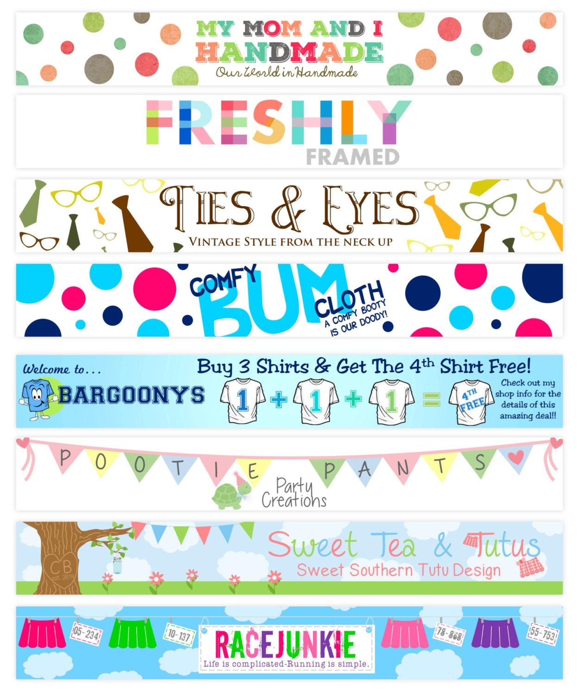 Design banner for etsy -  20 00