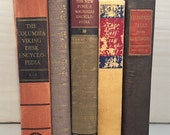Brown Vintage Books, Book Collection, Book Bundle, Photography Props, Shades of Red Books ,Instant library