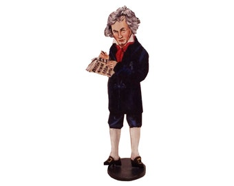 Beethoven Hand Painted 2D Art Figurine