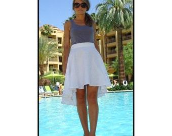 Hi Lo White Linen Dress