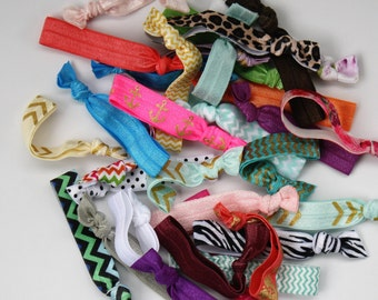 GRAB BAG Hair Ties / Hair Bands Grab Bag / Birthday Party Favor / Wedding Favor / 5, 10, 20, 50, 100 Ties / WHOLESALE