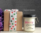 Soy Candle personalized Merry Christmas with gift box
