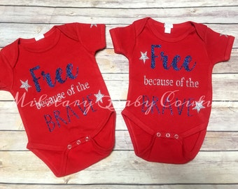 Free Because of the Brave One Piece Bodysuit