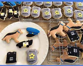 K9 Police Cookie Favors