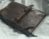 Steampunk leather journal distressed artist notebook ooak refillable