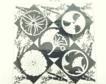 Japanese Gingko Blossom pattern (Applique)