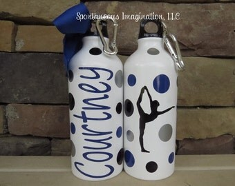 Dance Water Bottle, Dance Gifts, Dance Team Gifts, Personalized Sport Water Bottle, Custom Water Bottle, Ballet Water Bottle