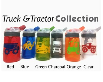 Contigo Water Bottle for Kids, Personalized Water Bottle, Personalized Sippy Cup, Personalized Bottles, Tractor, Truck Birthday Party Favors