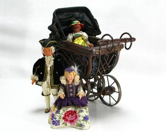 French Dolls Pram, Dolls Pram, Vintage Dolls Pram, Dolls Stroller, Dolls Carriage, French Vintage Dolls Pram, French Dolls Carriage
