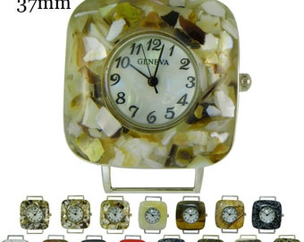 Gemstone Solid Bar Ribbon Watch Face ~ 37 mm ~ Many Colors Available!