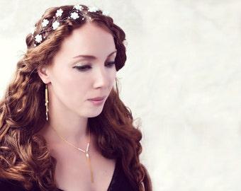 64_Long earrings, Pearl wedding earrings,  Wedding earrings, Bridal gold earrings, Pearls bridal jewelry, Wedding Jewelry, Pearl earrings