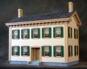 "Historic Mansion, Wooden Dollhouse Kit, ""Honest Abe"", Scale One Inch"